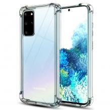 Удароустойчив силиконов калъф / гръб / TPU за Samsung Galaxy S21 Plus - прозрачен