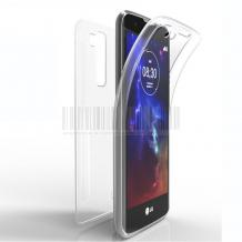 Силиконов калъф / гръб / TPU 360° за Lenovo Moto G4 Plus - прозрачен / 2 части / лице и гръб