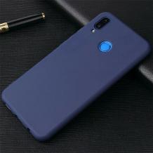Силиконов калъф / гръб / TPU за Huawei Y7 2019 - тъмно син / мат