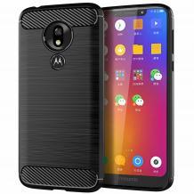 Силиконов калъф / гръб / TPU за Motorola Moto G7 Power - черен / carbon