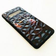 Луксозен твърд гръб 3D за Samsung Galaxy S10 Plus - маймуна / черна призма