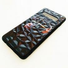 Луксозен твърд гръб 3D за Samsung Galaxy S10 - маймуна / черна призма