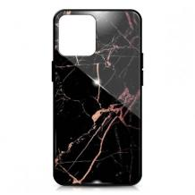 Луксозен гръб за Samsung Galaxy S20 - мрамор / черен с розово