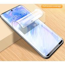 Удароустойчив извит скрийн протектор / 3D Full Cover Pet / за Motorola One Zoom - прозрачен