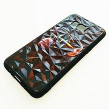 Луксозен твърд гръб 3D за Samsung Galaxy S8 G950 - маймуна / черна призма