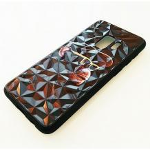 Луксозен твърд гръб 3D за Samsung Galaxy S9 G960 - маймуна / черна призма