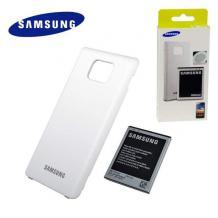 Подсилена батерия за Samsung Galaxy S2 I9100 2000mAh + заден капак / бял