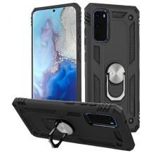Силиконов гръб Spigen със стойка и магнитно захващане за Huawei P40 Lite – черен