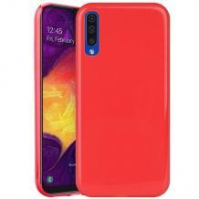 Силиконов калъф / гръб / TPU NORDIC Jelly Case за Samsung Galaxy A10 - червен