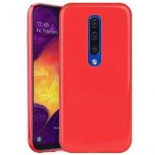 Луксозен силиконов калъф / гръб / TPU NORDIC Jelly Case за Xiaomi Mi 9T - червен