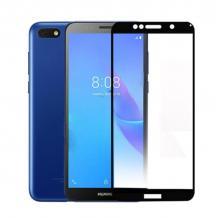 3D full cover Tempered glass screen protector Huawei Y5 2019 / Извит стъклен скрийн протектор Huawei Y5 2019 - черен
