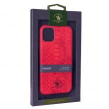 """Луксозен твърд гръб със силиконова кант за Apple iPhone 11 6.1"""" - Santa Barbara Polo Club / Red Snake"""