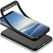 Луксозен силиконов калъф / гръб / TPU 360° за Apple iPhone 7 / iPhone 8 - черен
