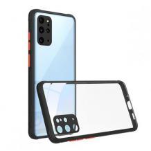 Луксозен твърд калъф / гръб Shockproof за Xiaomi Poco X3 - прозрачен / черен кант