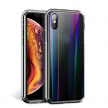 Луксозен твърд гръб Aurora за Samsung Galaxy A50 - прозрачен / холограма