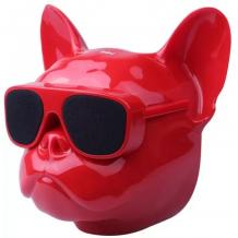 Тонколона Dog Head Bluetooth / Dog Head Bluetooth Wireless Stereo Speaker - червена