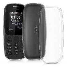 Силиконов калъф / гръб / TPU за Nokia 105 (2019) - прозрачен / мат
