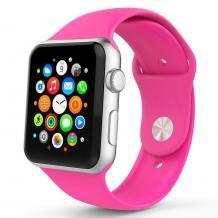 Силиконова каишка за Apple Watch 38мм / 40мм - цикламена