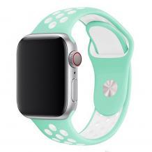 Силиконова каишка на дупки за Apple Watch 42мм / 44мм - мента