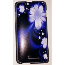 Силиконов калъф / гръб / TPU за Microsoft Lumia 640 XL / 640XL - лилав / бели цветя