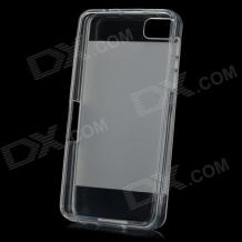 Силиконов калъф / гръб / TPU за BlackBerry Z10 - прозрачен / мат