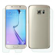 Стъклен скрийн протектор / 9H Magic Glass Real Tempered Glass Screen Protector 2 в 1 за дисплей на Samsung Galaxy S6 G920 - лице и гръб