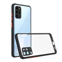 Луксозен твърд калъф / гръб Shockproof за Huawei P40 lite - прозрачен / черен кант