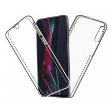 Силиконов калъф / гръб / TPU 360° за Xiaomi Mi 9 Lite - прозрачен / 2 части / лице и гръб