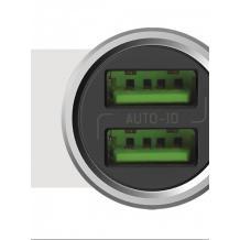 Зарядно за кола LDNIO C302 / DC 12V -24V / с 2 USB порта 3.6A за Samsung , Sony , HTC , Nokia , LG , Huawei, ZTE, Lenovo и др. - сребристо