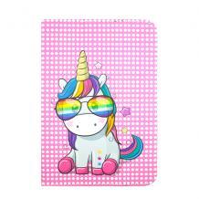 Универсален кожен калъф със стойка за таблет 7'' / 8'' - Rainbow Unicorn