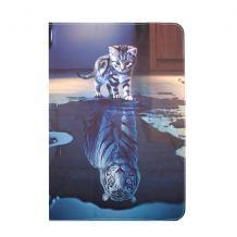 Универсален кожен калъф със стойка за таблет 9'' / 10'' - Little Tiger