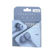 Стерео слушалки Yookie YK1170 / handsfree / 3.5mm за смартфон - сини