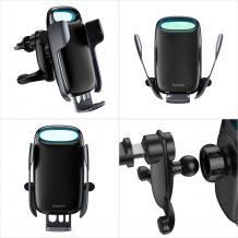 Универсална стойка за кола Baseus Milky Way WXHW02-01 Car Holder за Samsung, Apple, Huawei, Lenovo, LG, HTC, Sony, Nokia, ZTE, Xiaomi - черна