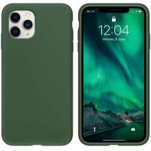 Луксозен силиконов калъф / гръб / TPU Soft Jelly Case за Apple iPhone 12 /12 Pro 6.1'' - Тъмно Зелен