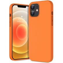 """Луксозен силиконов калъф / гръб / TPU Soft Jelly Case за Apple iPhone 12 Pro Max 6.7"""" - Оранжев"""