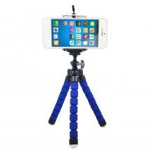 Универсална стойка Spider Tripod Mini за смартфон и фотоапарат - синя