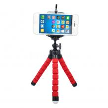 Универсална стойка Spider Tripod Mini за смартфон и фотоапарат - червена