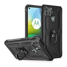 Силиконов гръб Spigen със стойка и магнитно захващане за Motorola Moto G9 Power – черен