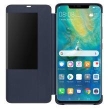 Луксозен калъф Smart View Cover за Samsung Galaxy A7 2018 A750F - тъмно син