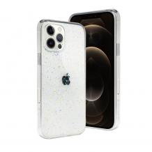 Луксозен гръб 3D SwitchEasy Starfield за Apple iPhone 12 / 12 Pro 6.1'' - прозрачен / брокат / Crystal