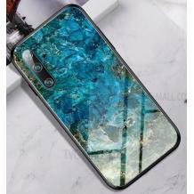 Луксозен стъклен твърд гръб за Apple iPhone XR - син