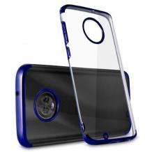 Луксозен силиконов калъф / гръб / TPU за Xiaomi Mi 10T Lite - прозрачен / син кант