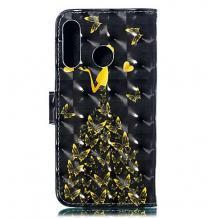 Кожен калъф Flip тефтер Flexi със стойка за Samsung Galaxy A10/M10 - черен / Butterfly Woman