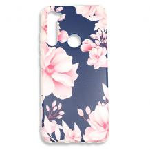 Луксозен силиконов калъф / гръб / TPU за Nokia 1 Plus - Spring / син с цветя