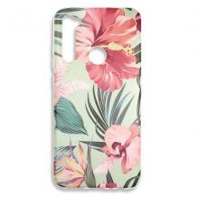 Луксозен силиконов калъф / гръб / TPU за Nokia 1 Plus - Spring / резида с цветя