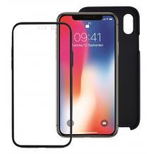 Луксозен твърд гръб 2in1 360° Full Cover за Apple iPhone X / iPhone XS - черен
