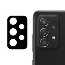 Удароустойчив протектор за камера / FLEXIBLE Nano Glass Camera Lens / на Samsung Galaxy A52 / A52 5G - черен
