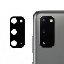 Удароустойчив протектор за камера / FLEXIBLE Nano Glass Camera Lens / на Samsung Galaxy S20 - черен