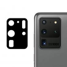 Удароустойчив протектор за камера / FLEXIBLE Nano Glass Camera Lens / на Samsung Galaxy S20 Ultra - черен
