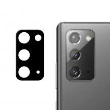 Удароустойчив протектор за камера / FLEXIBLE Nano Glass Camera Lens / на Samsung Galaxy Note 20 - черен